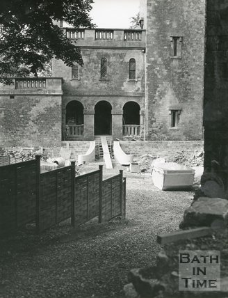 Beckford's Tower Bath condition in 1972. Entrance to Tower