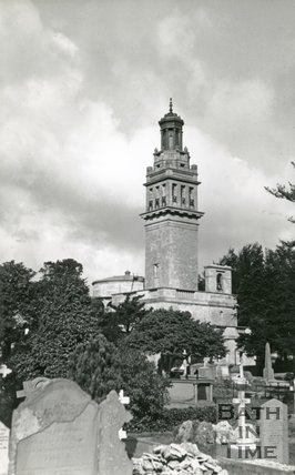 Beckford's Tower and Lansdown Cemetery, Bath, c.1950s?