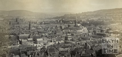 Panorama view of Bath from Beechen Cliff, c.1874