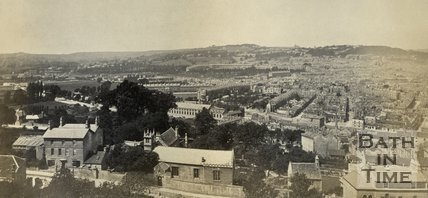 View of Bath from Beechen Cliff, c.1874