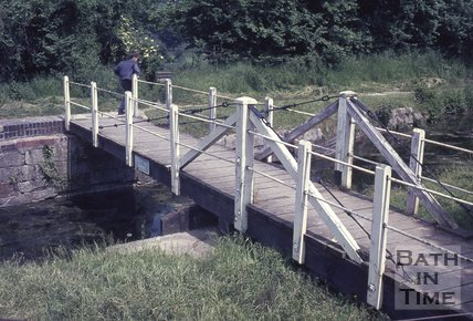 Swing Bridge on the Kennet and Avon Canal, Bathampton c.1960