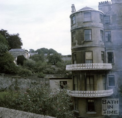 The end house on Lansdown Place West, Bath, c.1970