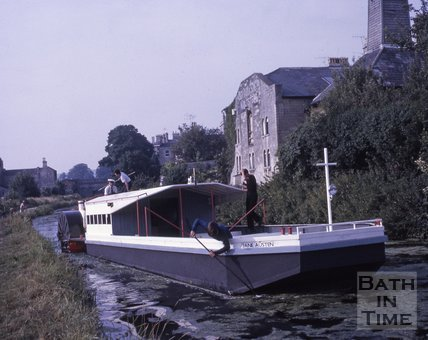Pleasure boat Jane Austen on the Kennet and Avon Canal, Bathwick, Bath c.1960