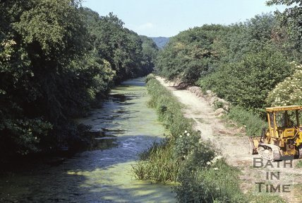 The unrestored Kennet and Avon Canal close to Limpley Stoke c.1960