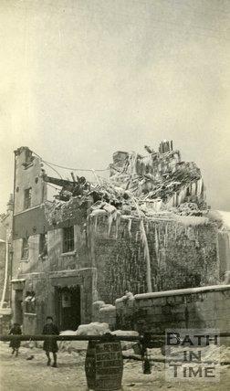 Fire in James Street, Bath, 1929