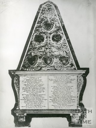 Memorial to Thomas Rivers in Winchester Cathedral, c.1940s
