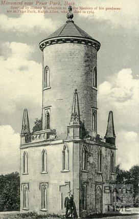 Ralph Allen's Monument, near Prior Park, Bath, c.1910