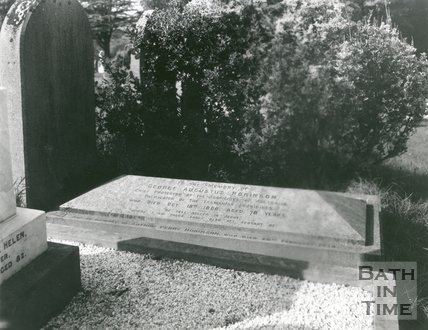 Gravestone of G.A. Robinson, Abbey Cemetery, Bath, 1947