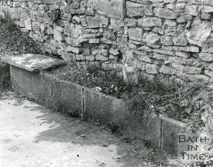 Horse Trough on Lansdown Hill, opposite the Hare & Hounds, Bath, 1967
