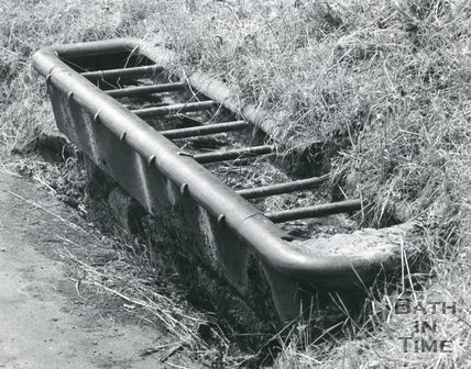 Cast Iron Horse Trough on Lansdown Road, Bath, 1967