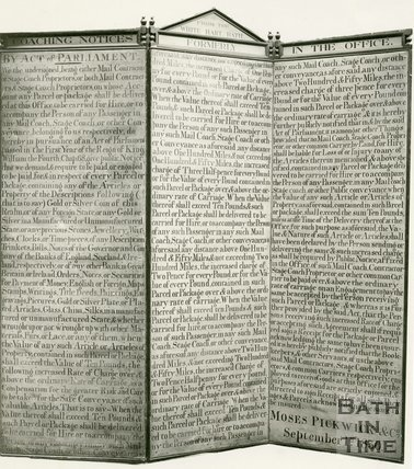 Moses Pickwick Coaching Notices from the White Hart, Bath, September 1st 1870