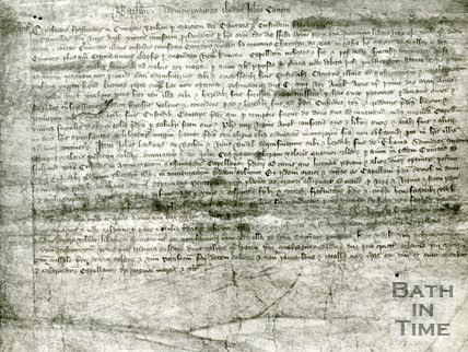 Exchequer Certificate of the return made by the Mayor of Bath, John Compe, 1389