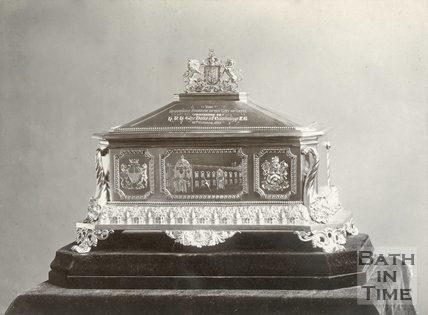 Gold Casket in which the Freedom of the City was Presented to H.R.H the Duke of Cambridge on October 18th, 1897
