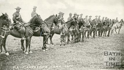 North Somerset Yeomanry, Lansdown Camp, 1905