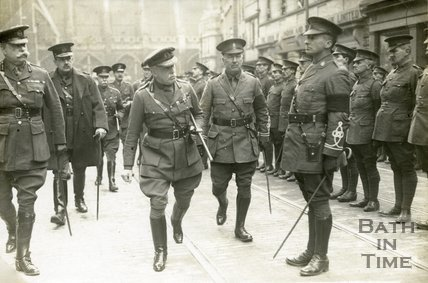 Lord French Inspecting Troops in High Street, Bath, 1916