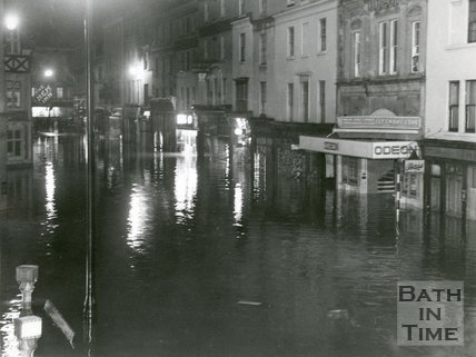 Floods in Southgate Street, Bath, 1960