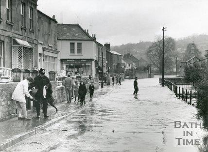 Floods, St. Saviours Road, Larkhall, Bath, 1960