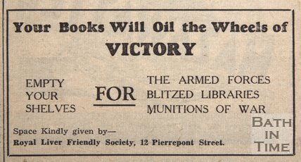 Your books will oil the wheels of victory, Mon June 7, 1943