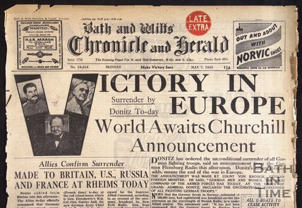 Victory in Europe from page, VE Day 1945 - detail