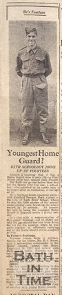 Norman Room - Bath's youngest Home Guard?, Jan 18 1941