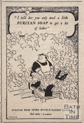 Puritan Soap advertisement, 19 May, 1945