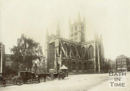 View of Bath Abbey from Orange Grove, Bath 1903