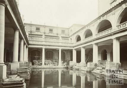 The newly constructed Roman Bath's museum, Bath 1903