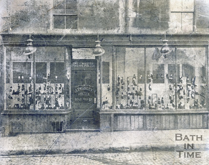 Shop front of J. Pugsley, boot maker, 9, Charles Street, Bath c.1920
