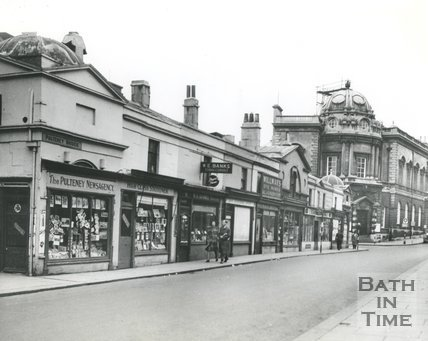 Shops on Pulteney Bridge, Bath 1949