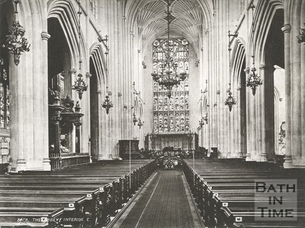 The nave, Bath Abbey, Bath c.1900