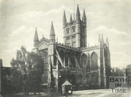 View of Bath Abbey from Orange Grove, Bath c.1905
