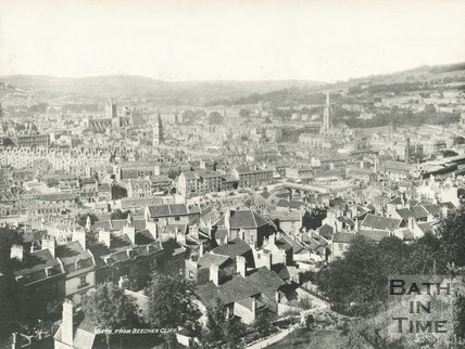 View of Bath from Beechen Cliff, Bath c.1900