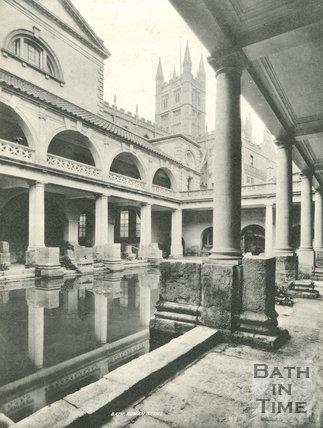 The Roman Great Bath, Bath c.1900