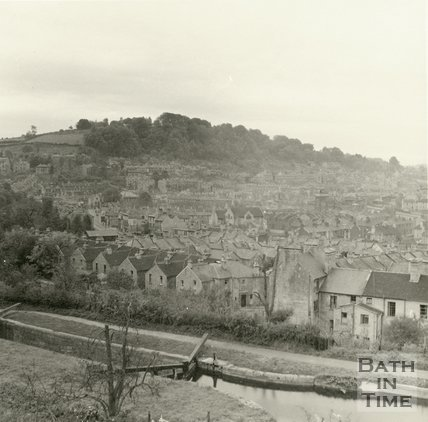 View of Widcombe from Sydney Buildings, Bath c.1920