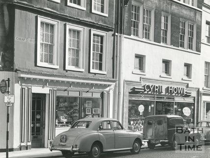 The Cyril Howe photographic shop 13 & 14, Cheap Street, Bath 1962