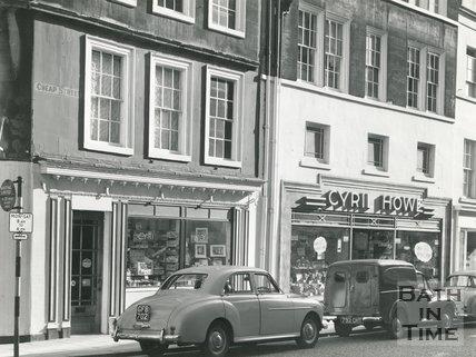 The Cyril Howe photographic shop 13 & 14, Cheap Street, Bath 1962