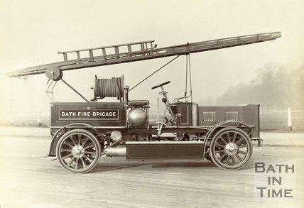 A Bath Fire Brigade Merryweather motor tender 1910