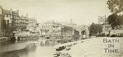 View of Pulteney Bridge and Weir, Bath c.1865