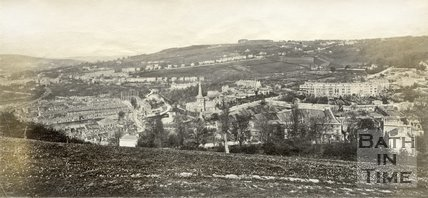 Widcombe from Beechen Cliff, Bath c.1865