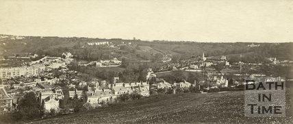 Widcombe from Beechen Cliff, Bath c.1865