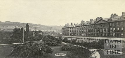 The Institution Gardens and North Parade, Bath c.1865