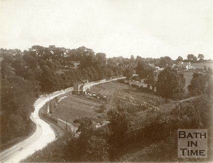 View of Entry Hill, Bath c.1900