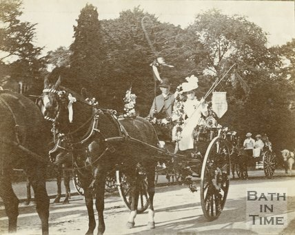 Flower fete in Royal Victoria Park, Bath 1899
