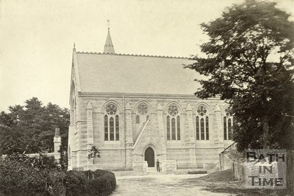 St. John's Church from St. John's Road, Bathwick, Bath c.1880