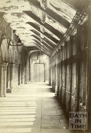 Inside Bath Abbey, Bath c.1880