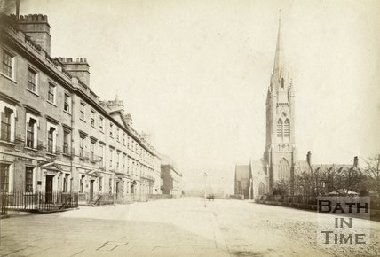 South Parade and St. John's Church, Bath c.1880