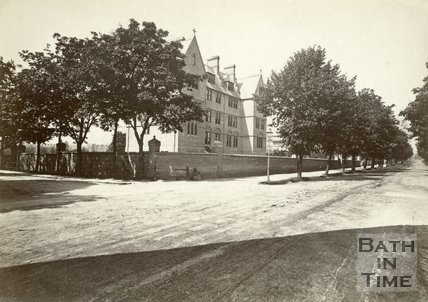 The La Sainte Convent on the corner of Pulteney Road and North Parade Bridge Road, Bath c.1880