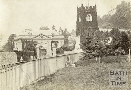 Widcombe Manor and St. Thomas à Becket Church, Bath c.1870