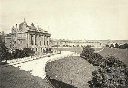 The Royal Crescent, Bath c.1865