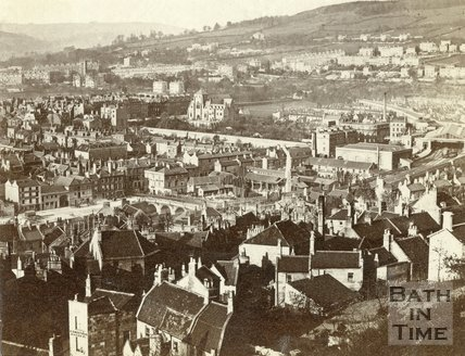 View of Bath from Beechen Cliff c.1864